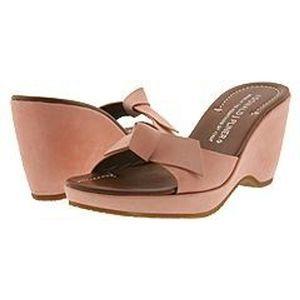 Donald J Pliner Velma Leather Tan Wedge Sandal 9